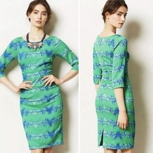 Tracy Reese Anthropologie Emerald City Dress Sz 6
